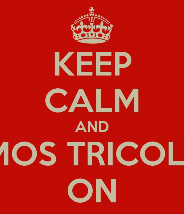 KEEP CALM AND VAMOS TRICOLOR ! ON
