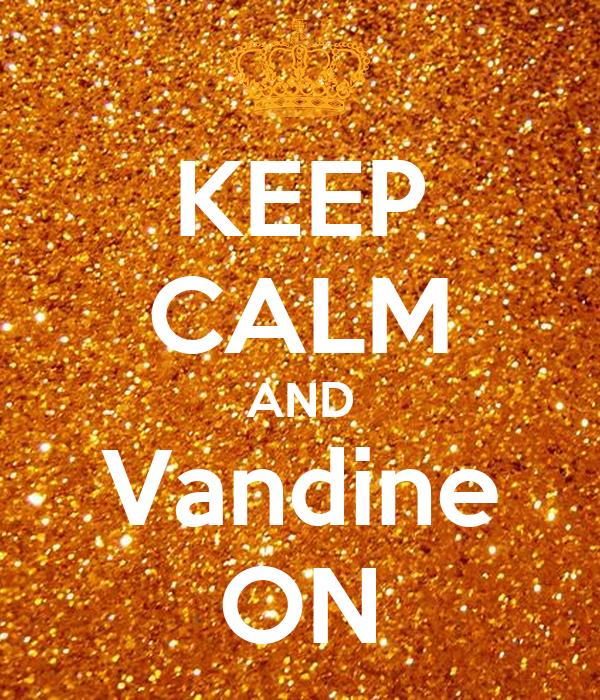 KEEP CALM AND Vandine ON