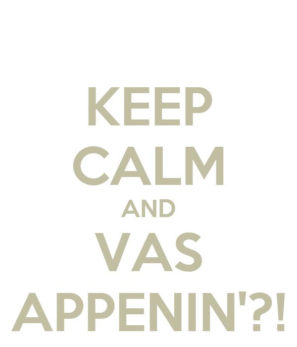 KEEP CALM AND VAS APPENIN'?!
