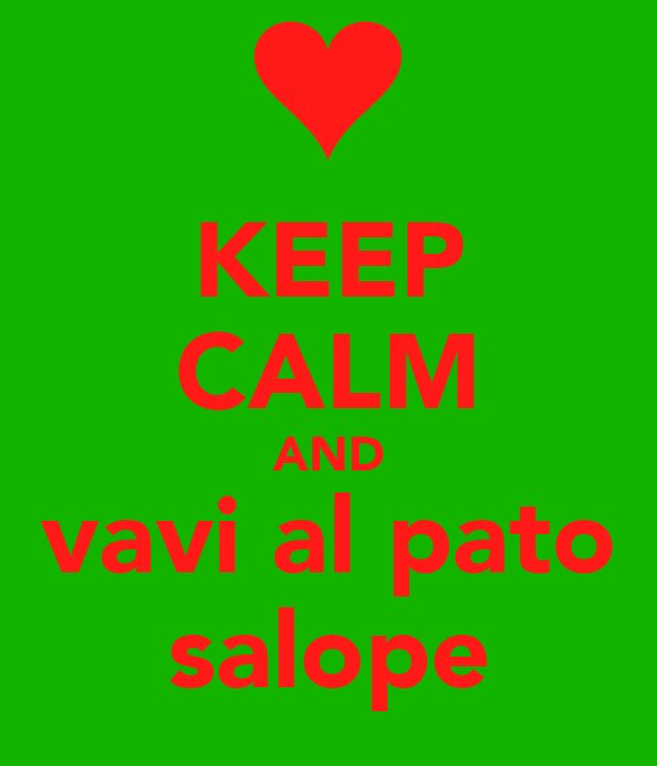 KEEP CALM AND vavi al pato salope