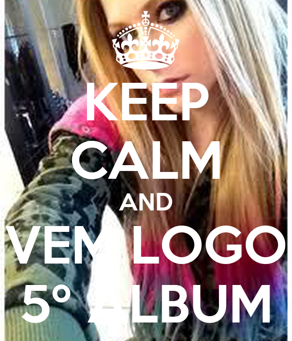 KEEP CALM AND VEM LOGO 5º ALBUM