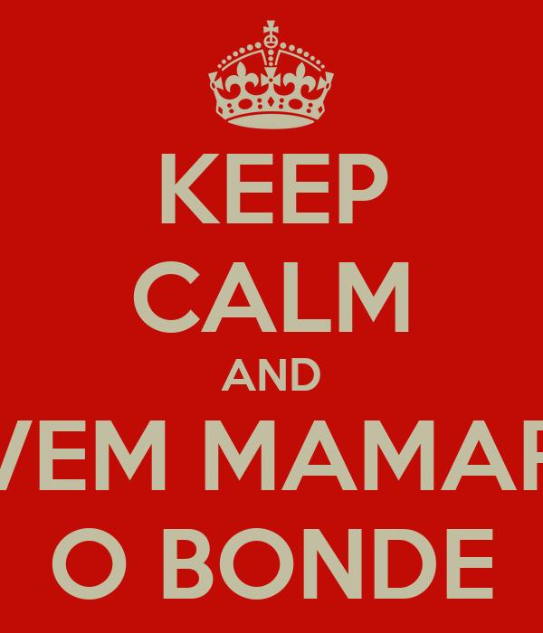 KEEP CALM AND VEM MAMAR O BONDE