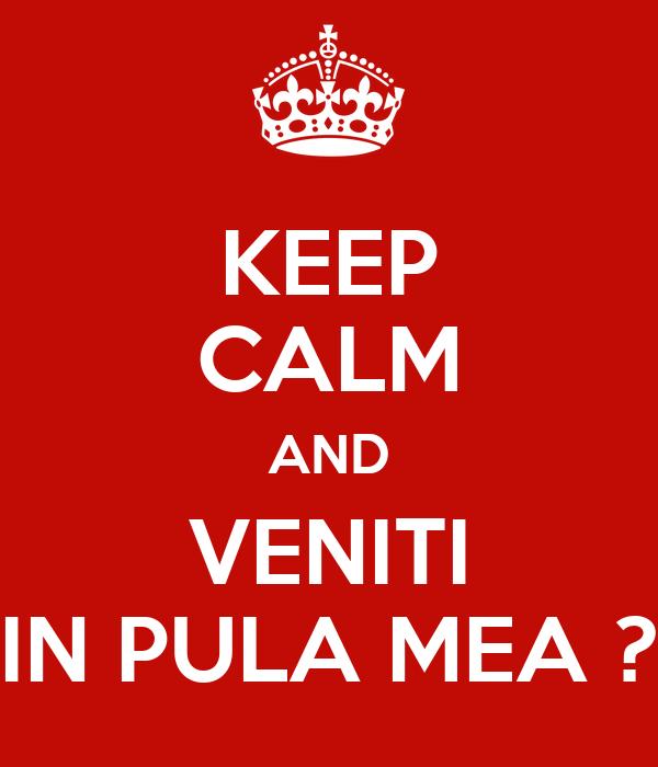 KEEP CALM AND VENITI IN PULA MEA ?