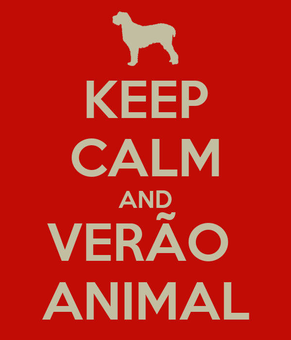 KEEP CALM AND VERÃO  ANIMAL