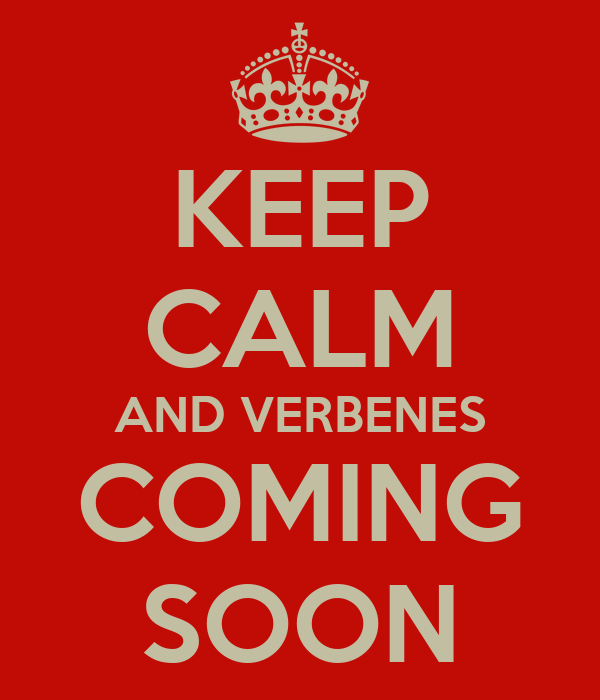 KEEP CALM AND VERBENES COMING SOON