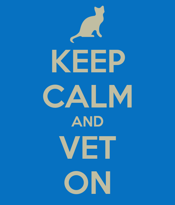 KEEP CALM AND VET ON