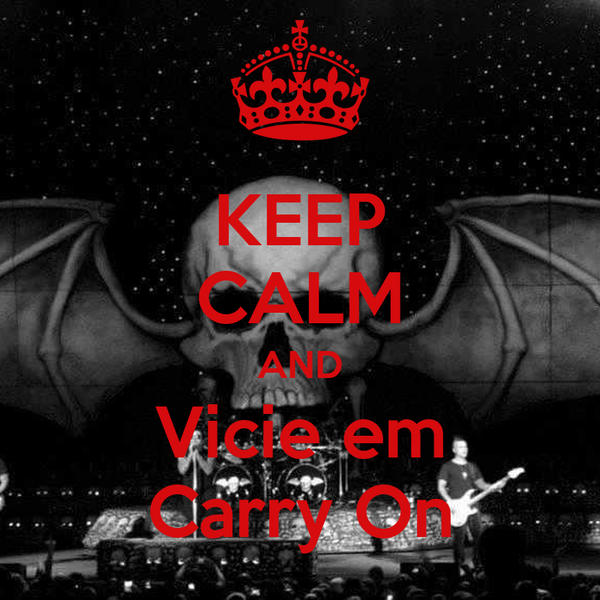 KEEP CALM AND Vicie em Carry On