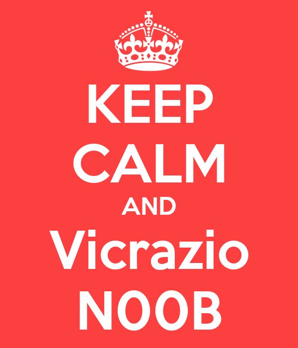 KEEP CALM AND Vicrazio N00B