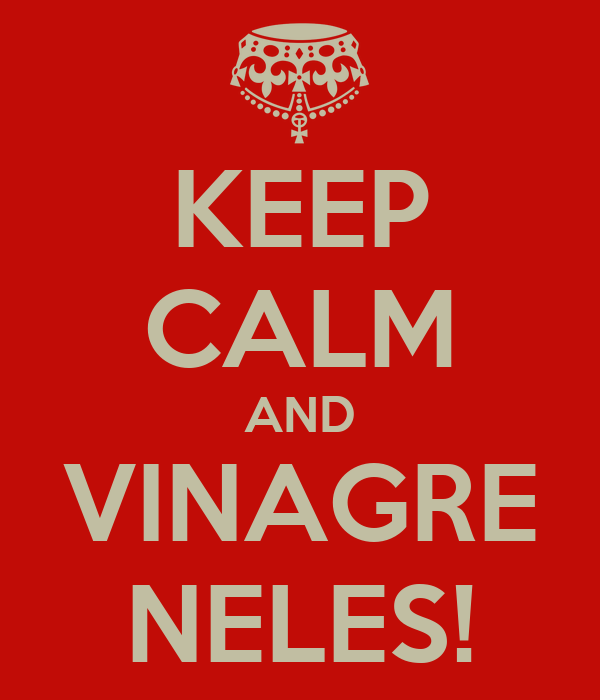 KEEP CALM AND VINAGRE NELES!