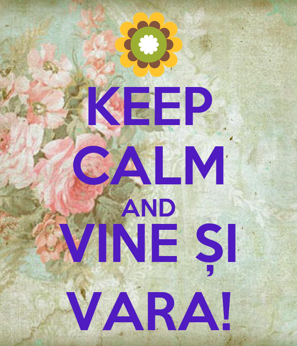 KEEP CALM AND VINE ȘI VARA!