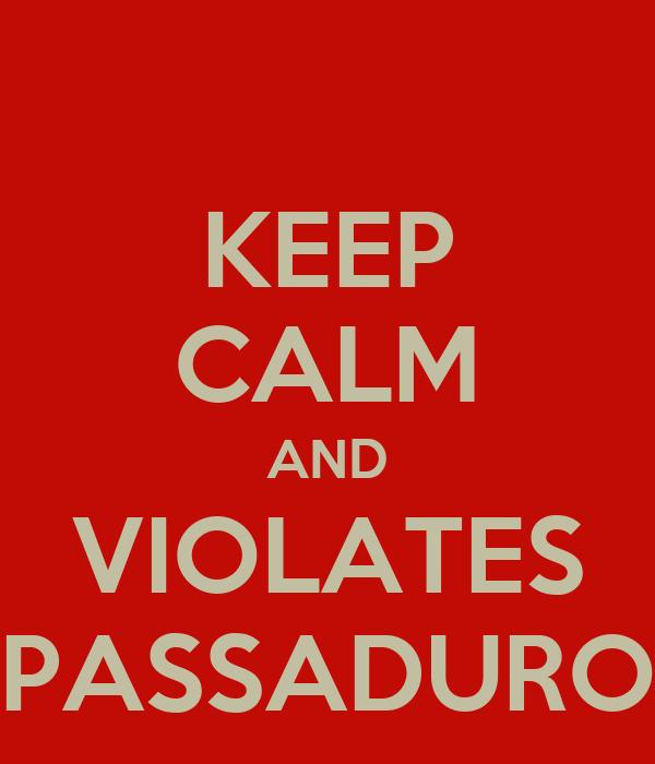 KEEP CALM AND VIOLATES PASSADURO