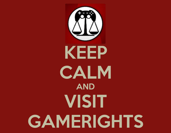 KEEP CALM AND VISIT GAMERIGHTS
