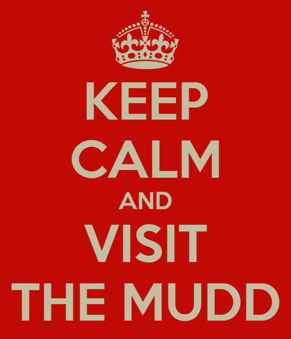 KEEP CALM AND VISIT THE MUDD