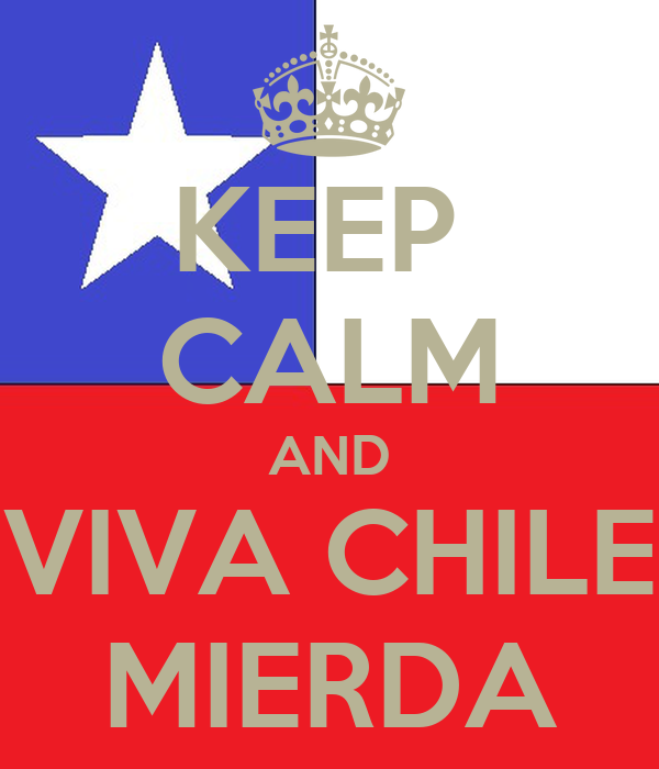 KEEP  CALM AND VIVA CHILE MIERDA