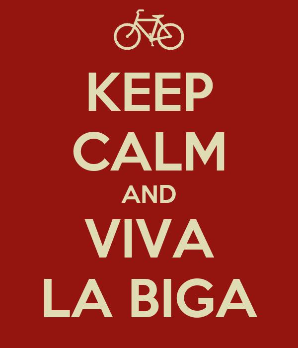 KEEP CALM AND VIVA LA BIGA
