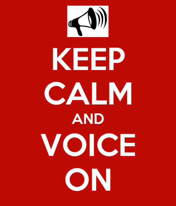 KEEP CALM AND VOICE ON