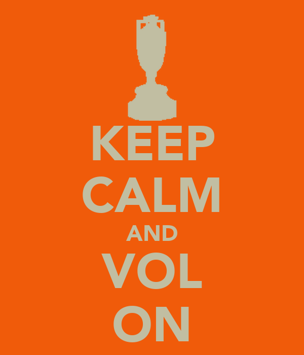 KEEP CALM AND VOL ON