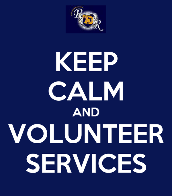 KEEP CALM AND VOLUNTEER SERVICES