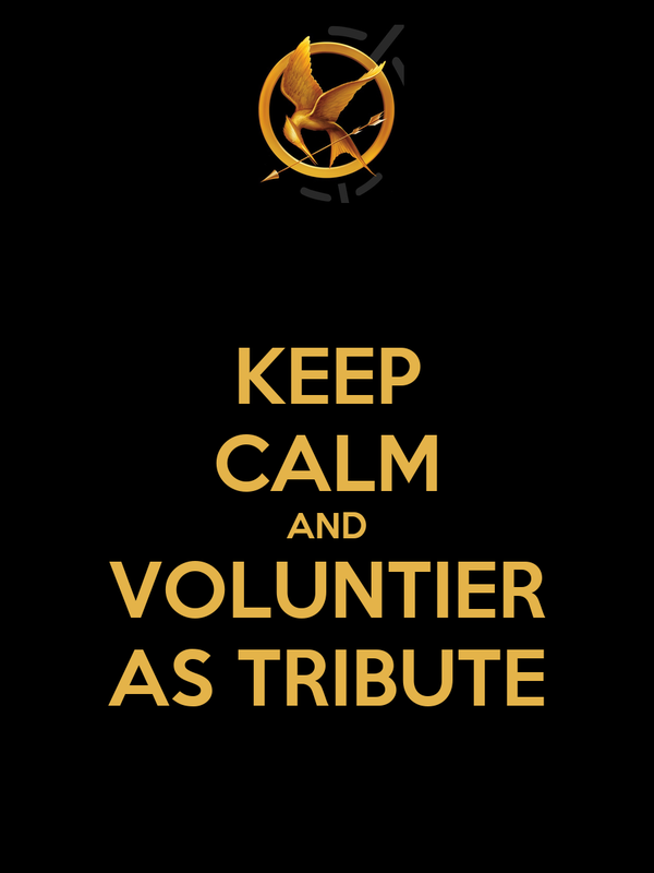 KEEP CALM AND VOLUNTIER AS TRIBUTE