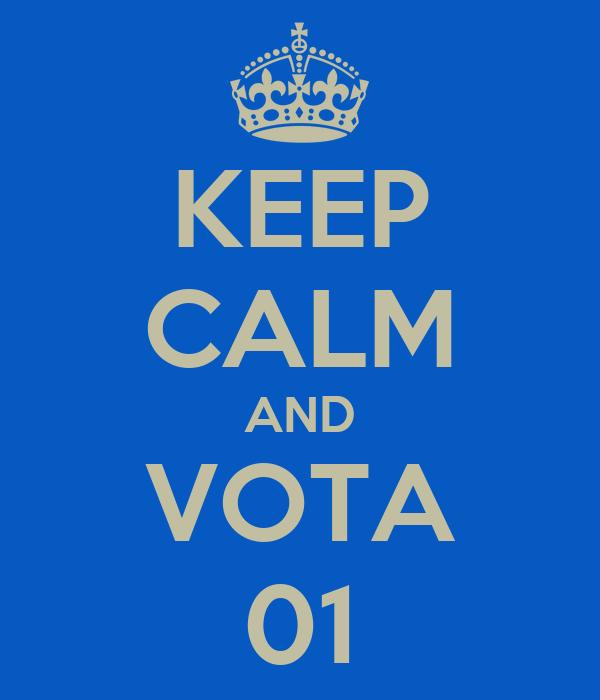 KEEP CALM AND VOTA 01