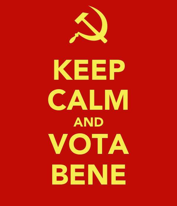 KEEP CALM AND VOTA BENE