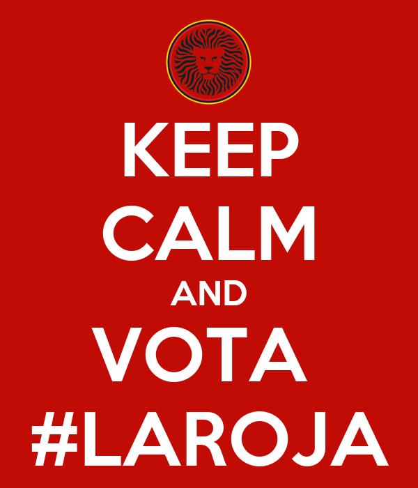 KEEP CALM AND VOTA  #LAROJA