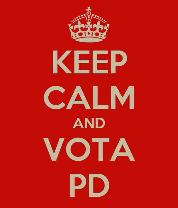 KEEP CALM AND VOTA PD