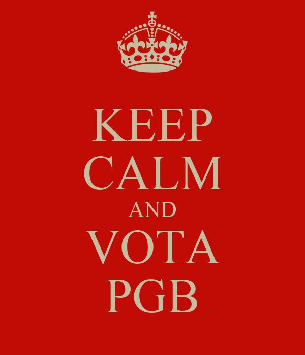 KEEP CALM AND VOTA PGB