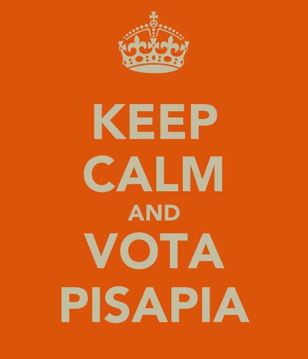 KEEP CALM AND VOTA PISAPIA