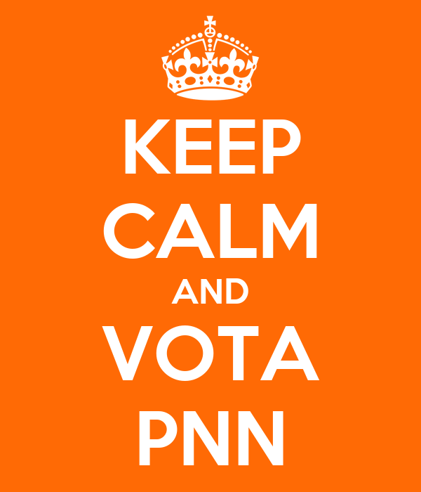 KEEP CALM AND VOTA PNN