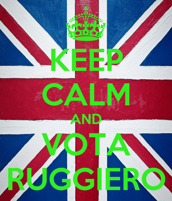KEEP CALM AND VOTA RUGGIERO