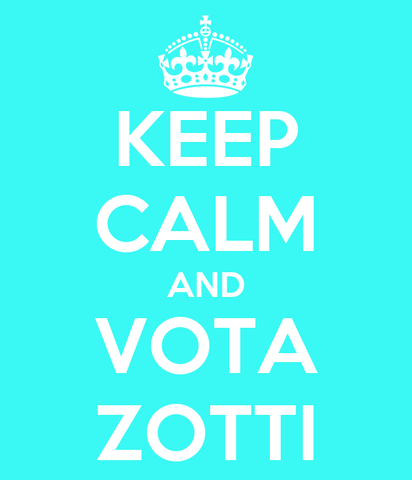 KEEP CALM AND VOTA ZOTTI