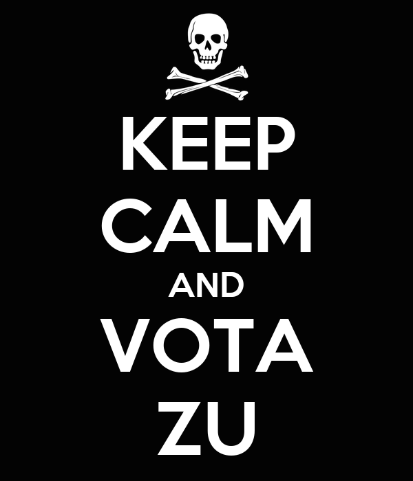 KEEP CALM AND VOTA ZU