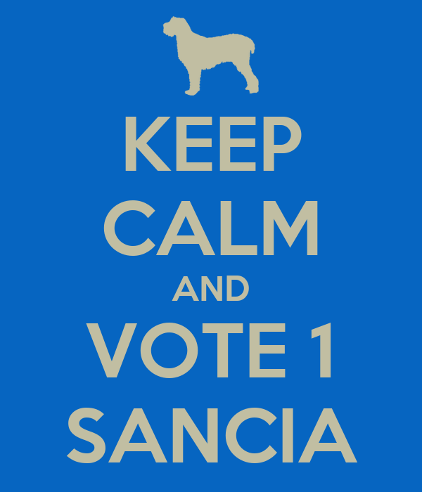 KEEP CALM AND VOTE 1 SANCIA