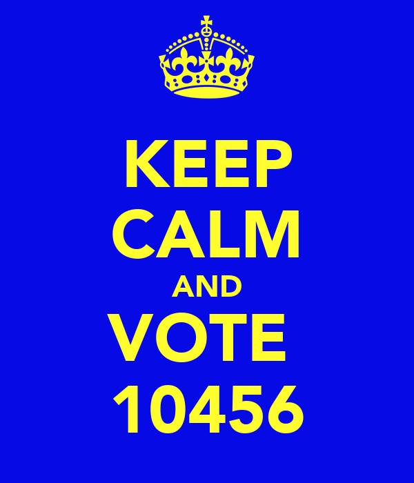 KEEP CALM AND VOTE  10456