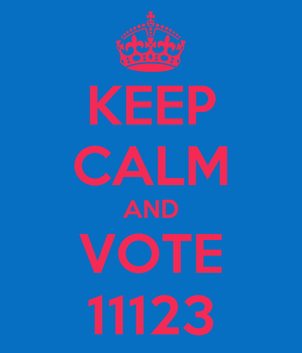 KEEP CALM AND VOTE 11123