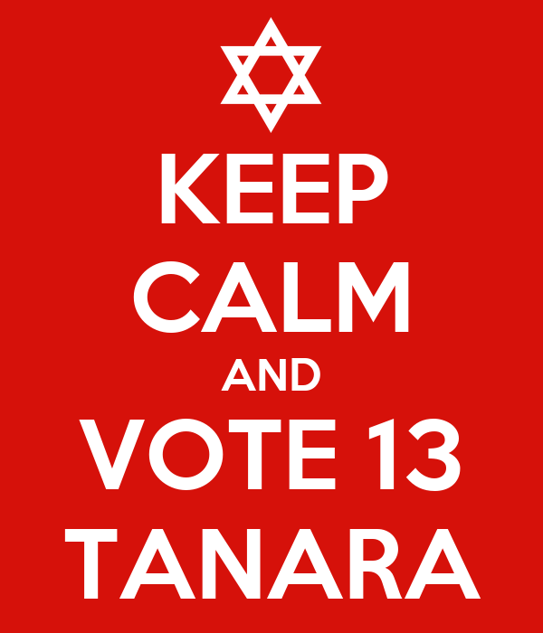 KEEP CALM AND VOTE 13 TANARA