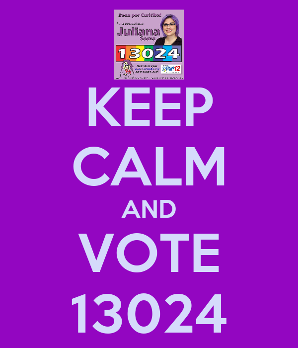 KEEP CALM AND VOTE 13024
