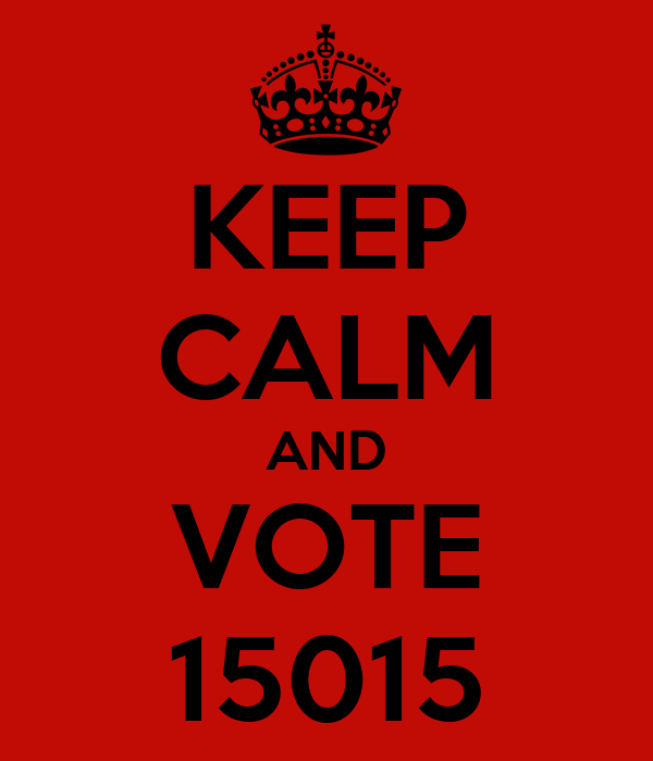 KEEP CALM AND VOTE 15015