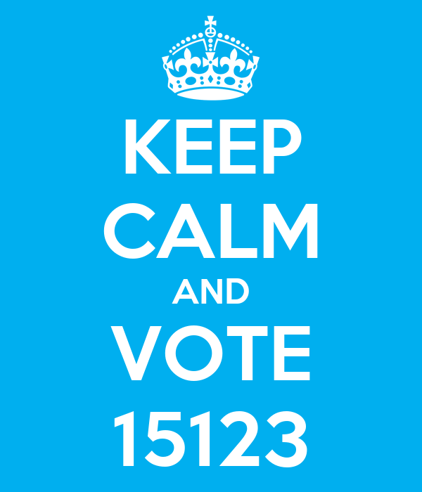 KEEP CALM AND VOTE 15123