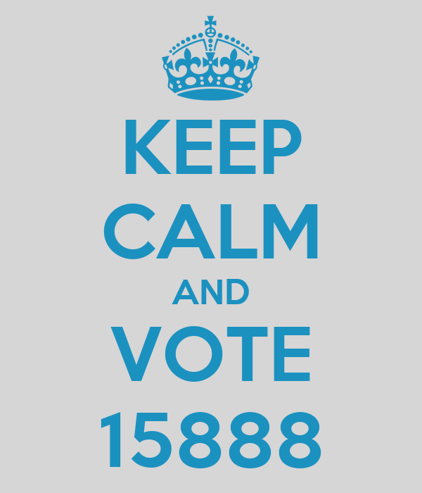 KEEP CALM AND VOTE 15888