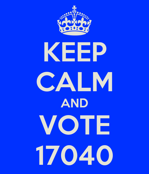 KEEP CALM AND VOTE 17040