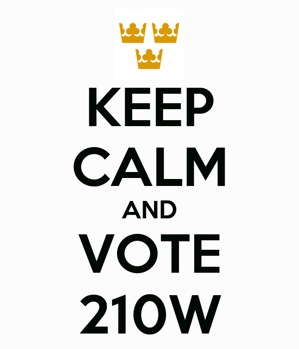 KEEP CALM AND VOTE 210W