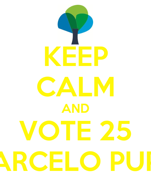 KEEP CALM AND VOTE 25 MARCELO PUPPI