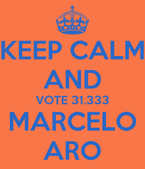 KEEP CALM AND VOTE 31.333 MARCELO ARO
