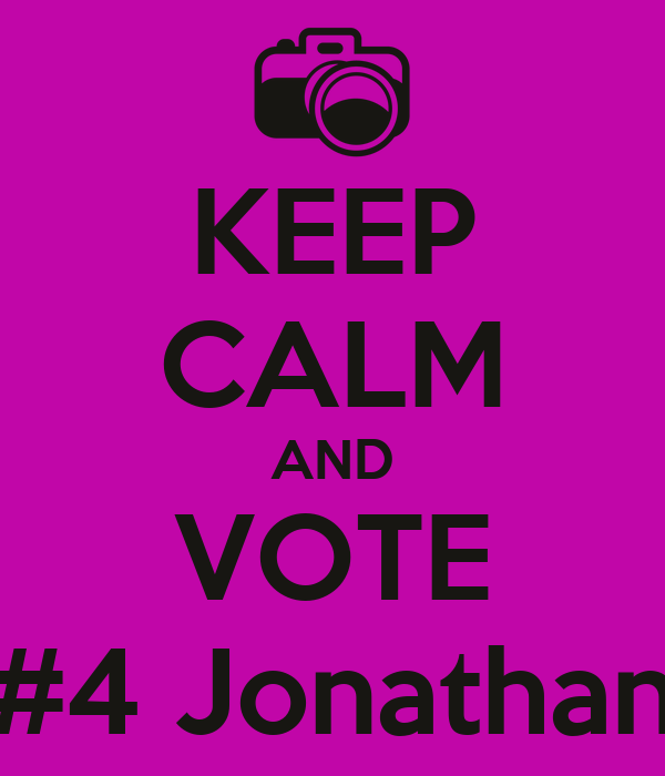 KEEP CALM AND VOTE #4 Jonathan