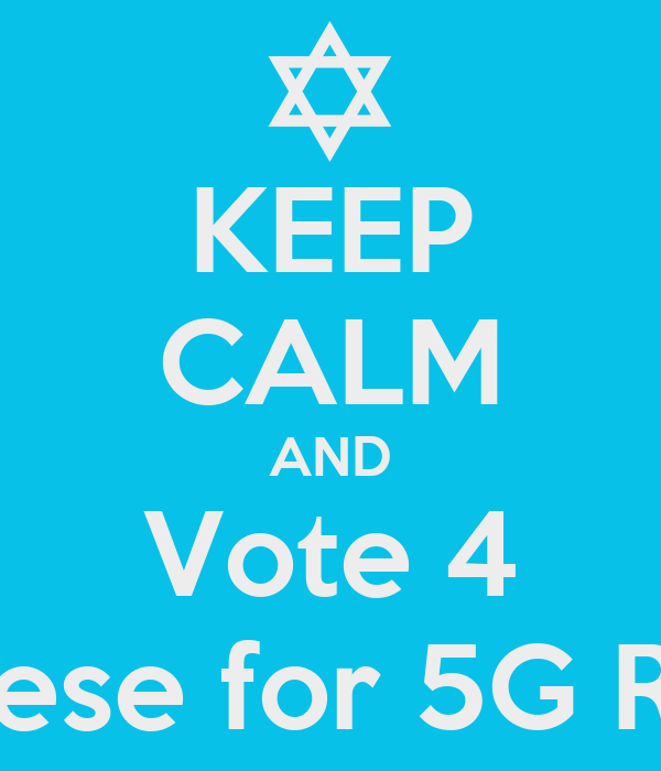 KEEP CALM AND Vote 4 Reese for 5G REP