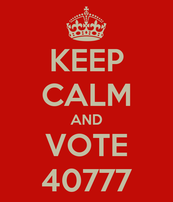 KEEP CALM AND VOTE 40777