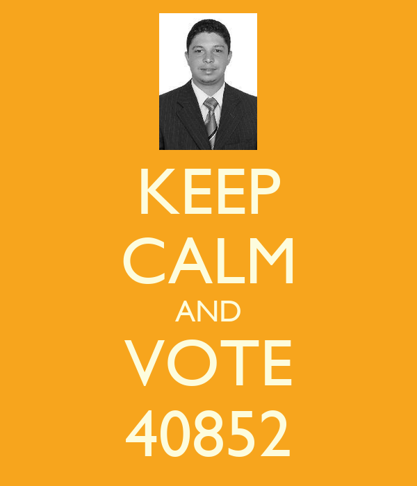 KEEP CALM AND VOTE 40852