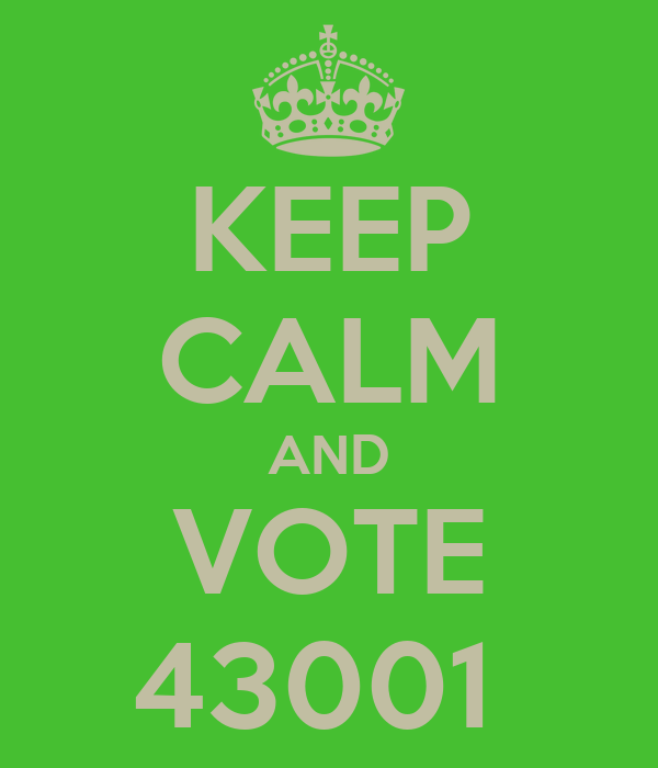 KEEP CALM AND VOTE 43001